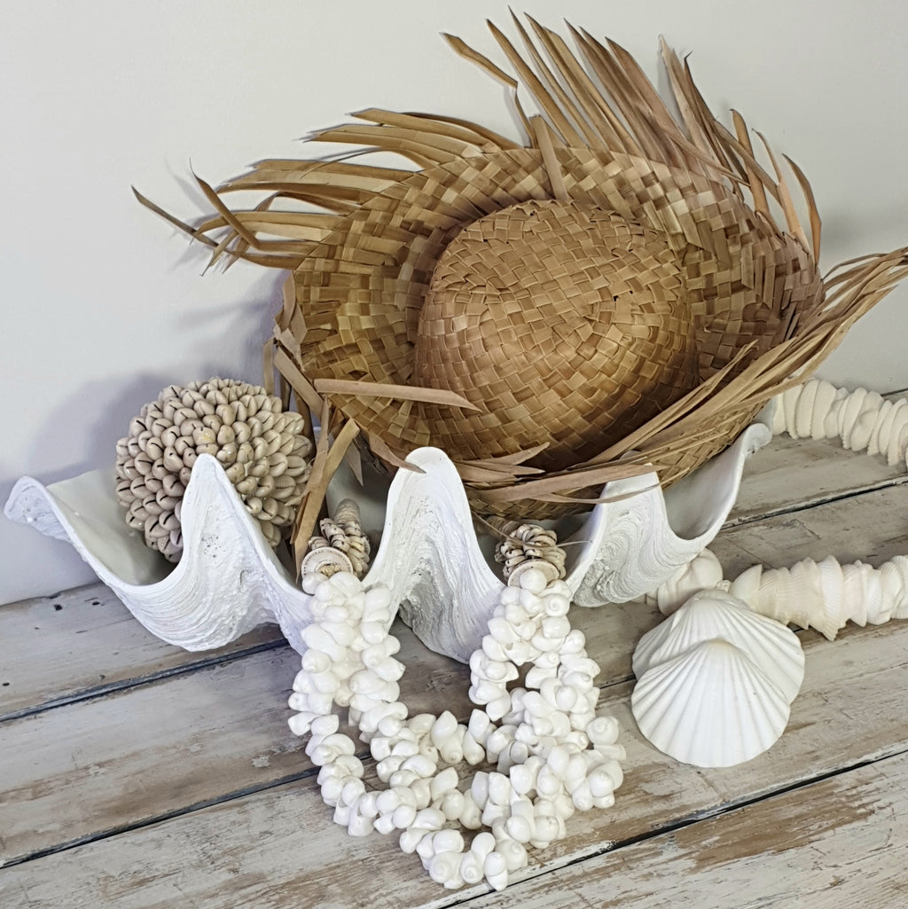 Raffia Straw Hat with fringe