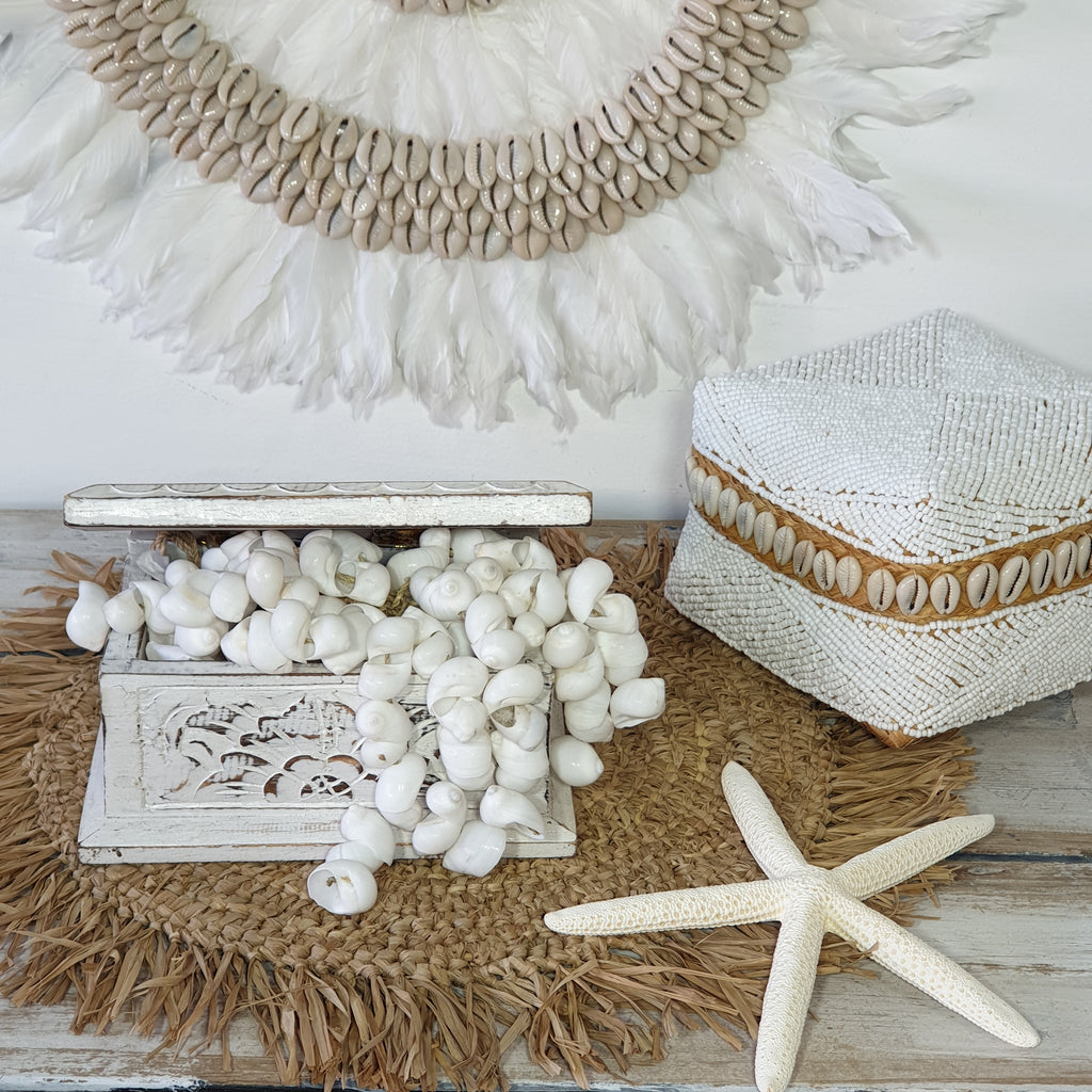 Luxe Coastal Home Shell Garland