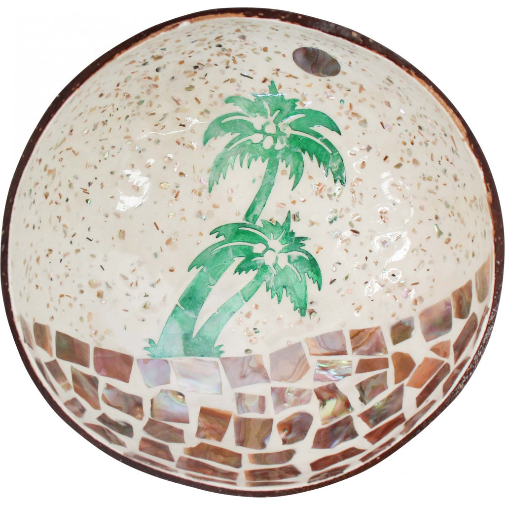 Luxe Coastal Home Coconut Bowl