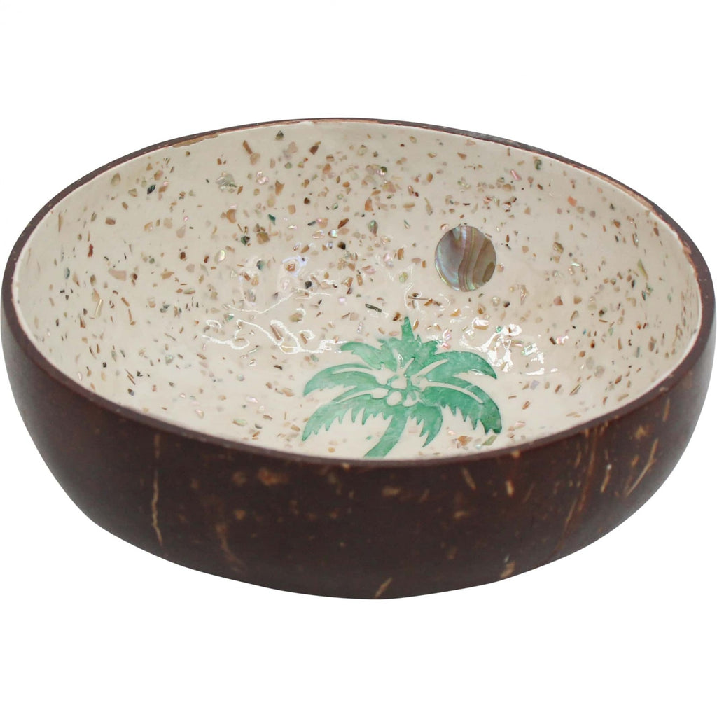 Coconut Bowl Palm Tree Green