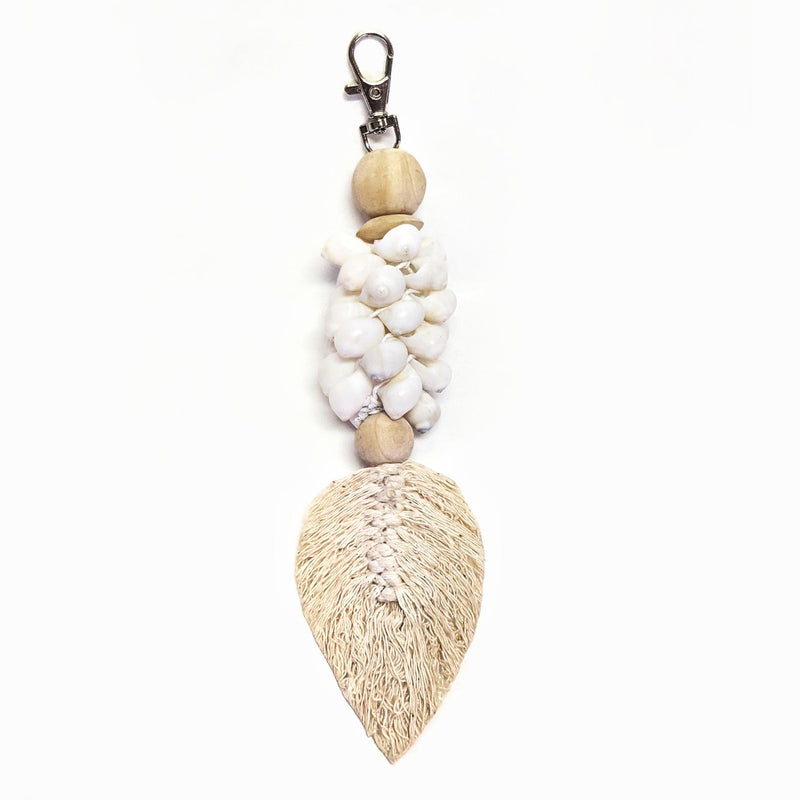 Leaf Key Chain White