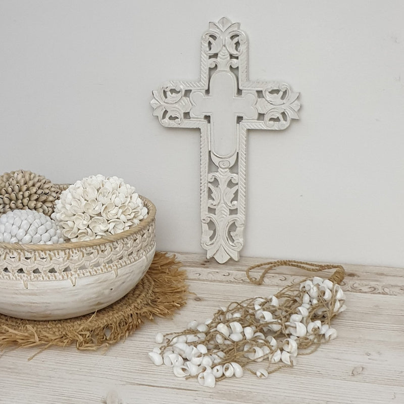 Sea Grass and Shell Garland Tassel