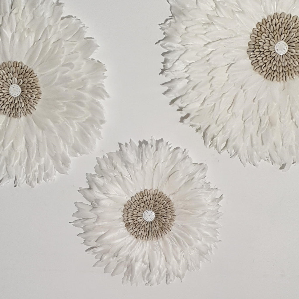 Juju Hat feather and shell wall art