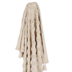 Luxe Tufted Throw Ivory