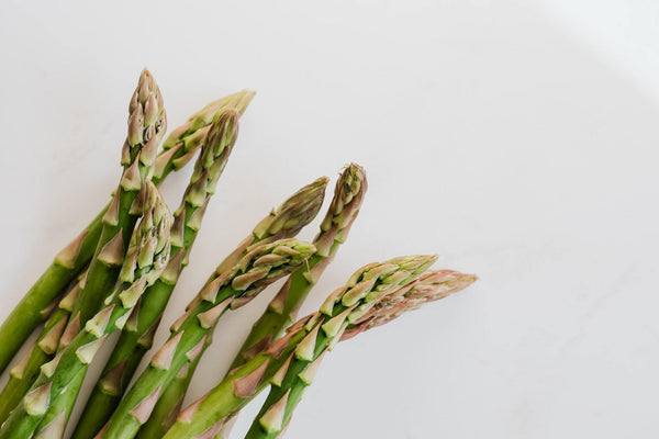 Shaved Asparagus Salad with Golden Turmeric Dressing | Almeda Labs