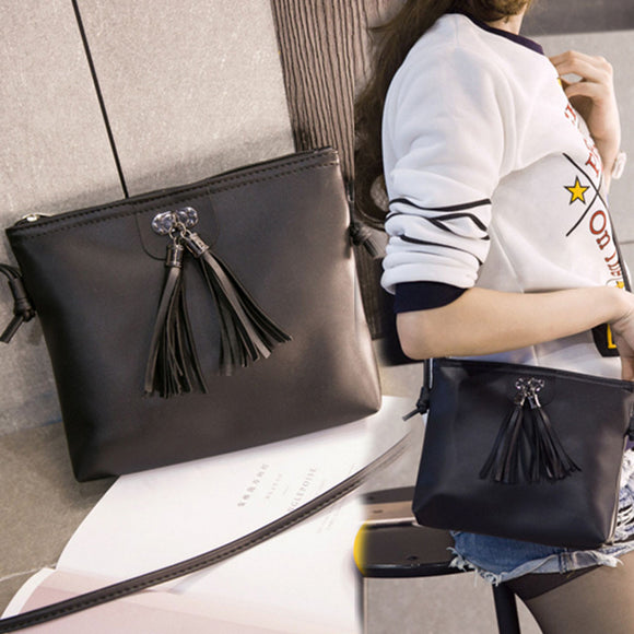 Women Fashion Tassel Mini Handbag Shoulder Bag