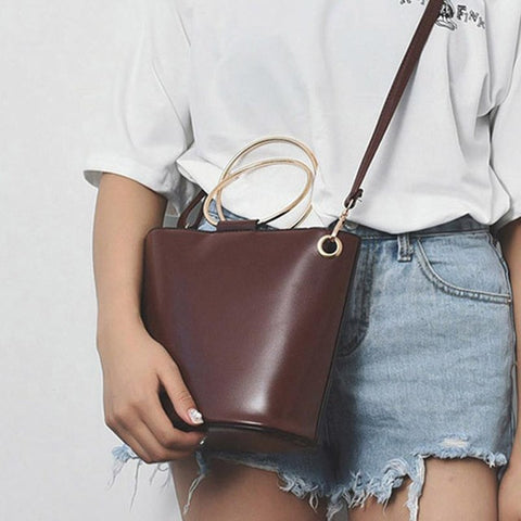 Image of Messenger Bags small leather handbag - newchic store