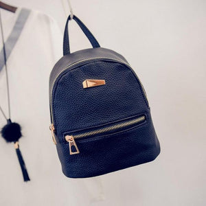 Women's Backpack Travel Candy Color ladies leather