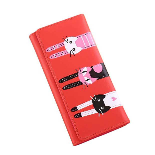 Cat Long Wallet - newchic store