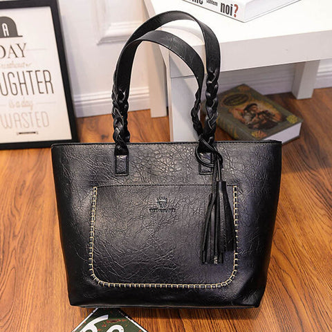 Image of Women's Leather Handbag - newchic store