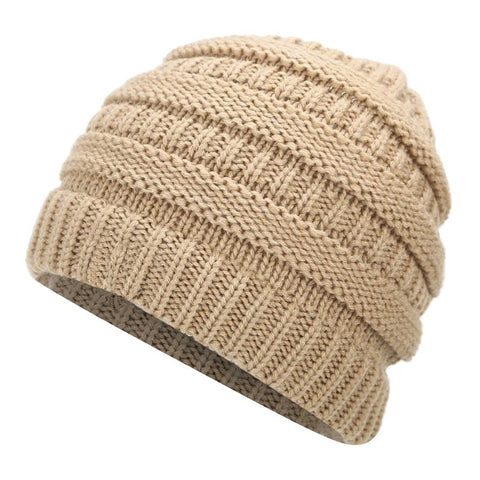 Image of Soft Knit Ponytail Beanie - newchic store