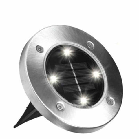 Solar Powered LED Outdoor Disc Lights