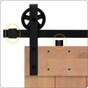 6.6 Ft Heavy Duty Rail For Sliding Barn Door (Single Door 6.6 FT Big Wheel) - Kaiezen