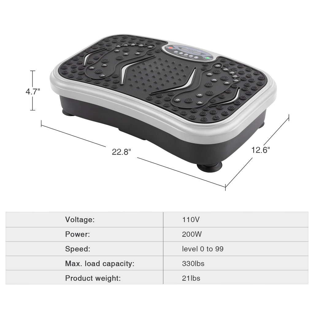 Vibration Platform Plate Whole Body Shaper Exercise Gym with Remote Control - Kaiezen