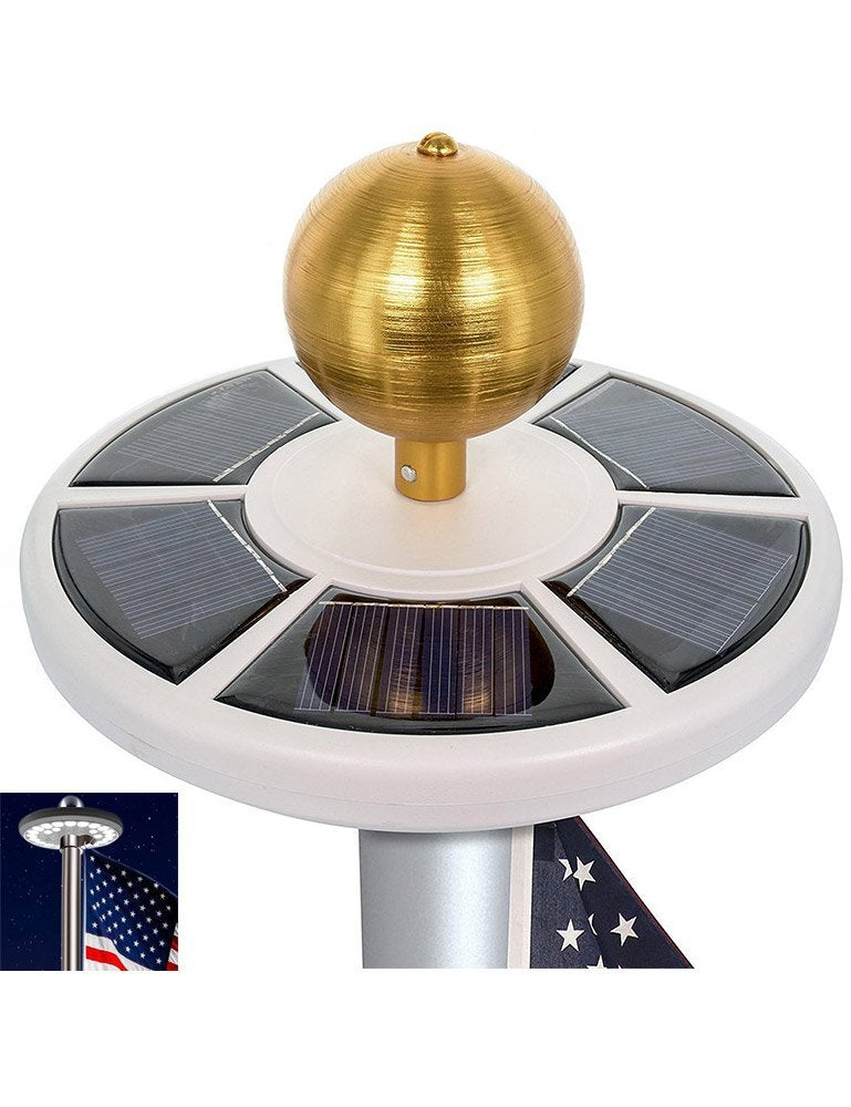 Waterproof Solar Powered LED Flagpole Light - Kaiezen