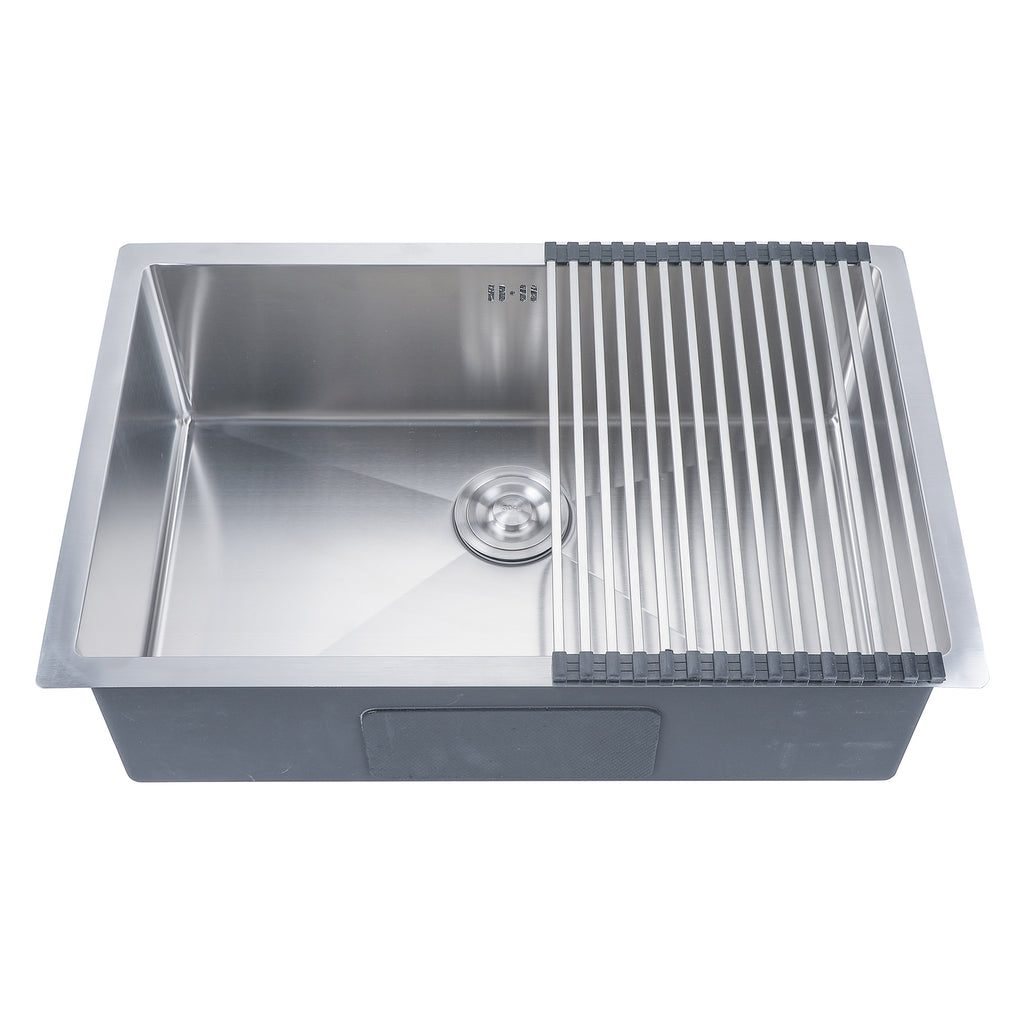 "28"" x 18"" x 9"" Single Basin Stainless Steel Top Mount Kitchen/Restaurant Sink - Kaiezen"