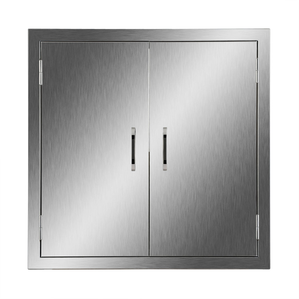 "Double Door Stainless Steel Flush Access Door 31""W x24""H BBQ Door Combo CFL - Kaiezen"