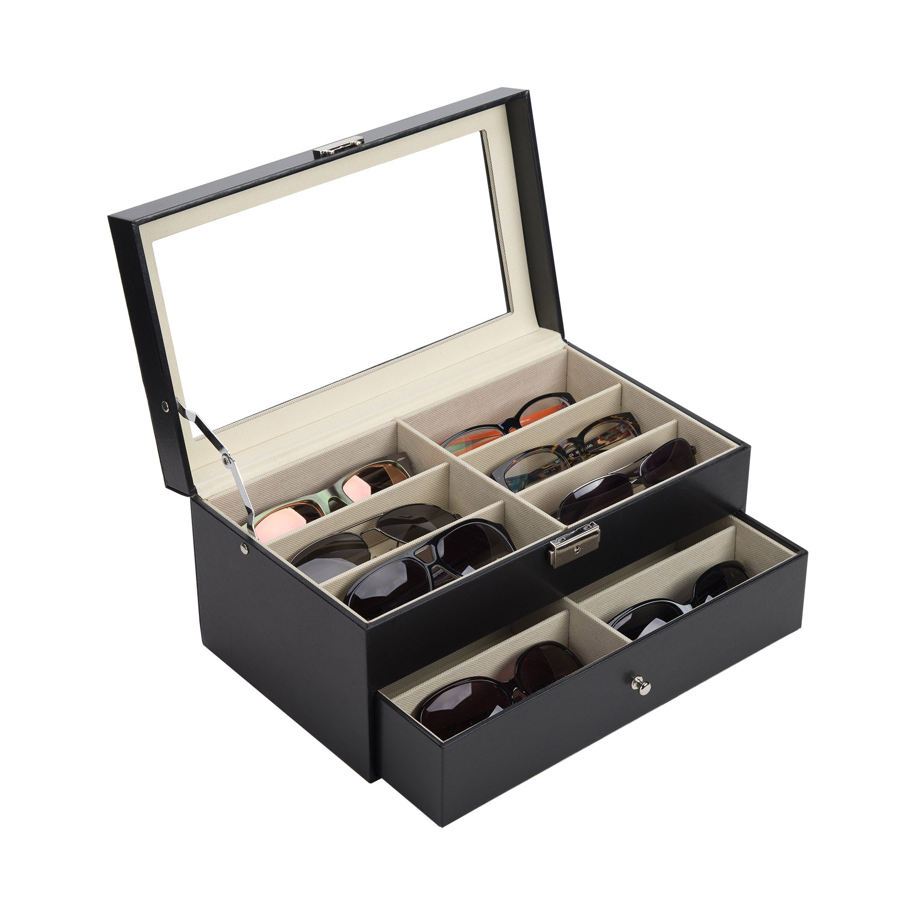 Sunglasses Organizer with 12 Compartments - Kaiezen