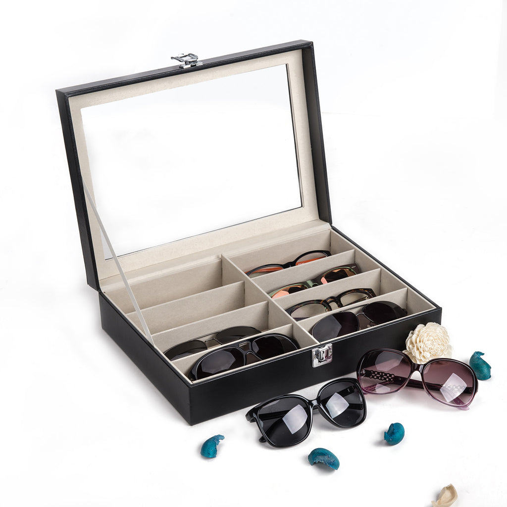 Leather Eyewear Storage Case/Box for Sunglasses/Eyeglasses - Kaiezen