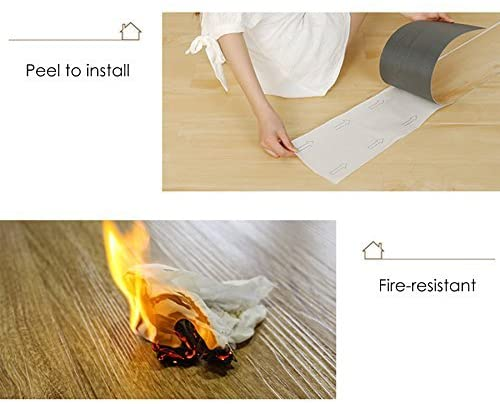 16 PCS 24 Square Feet, Odorless Vinyl Floor Planks Adhesive (Ash - 24 sq ft/Pack) - Kaiezen
