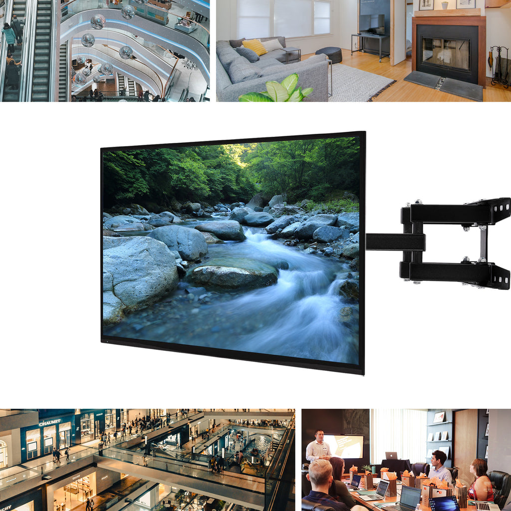"Full Motion TV Wall Mount Bracket LED LCD Flat Screen 20""24""32""37""46""52""55""60"" - Kaiezen"