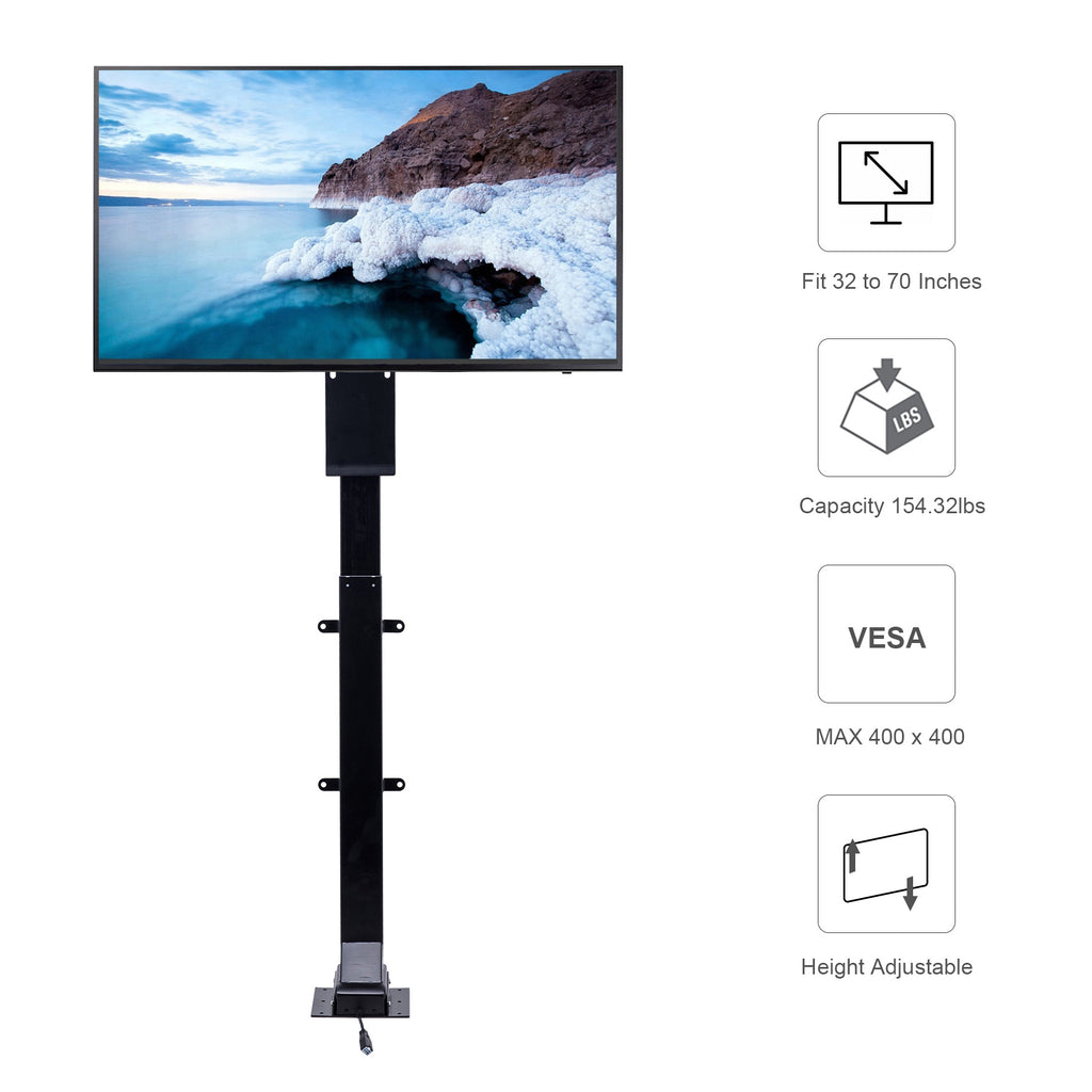 "Motorized TV Lift Mount for 32""-70"" Large Flat Screen Cabinet - Kaiezen"