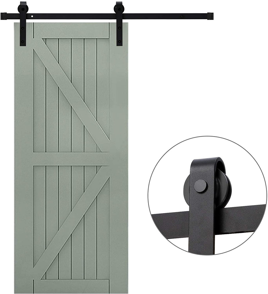 8 Ft Heavy Duty Rail For Sliding Barn Door (Single Door 8 Ft Kit) - Kaiezen