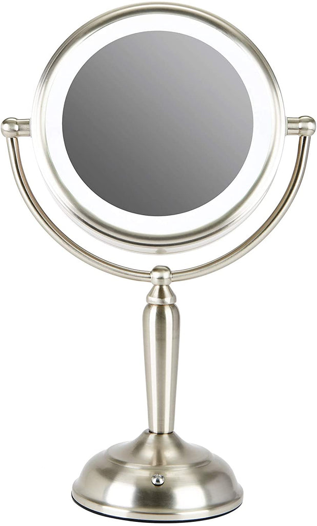 "Makeup Mirror with Lights, 7"" Plug-in LED Lighted Magnifying Vanity Mirror 1x 8X Magnification (Double side) - Kaiezen"