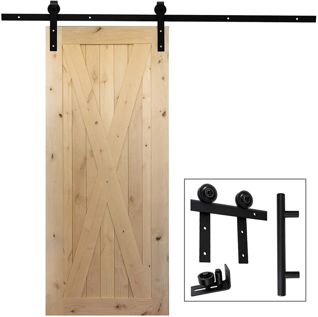 6.6 Ft Heavy Duty Rail For Sliding Barn Door (Single Door 6.6 Ft Whole Kit) - Kaiezen