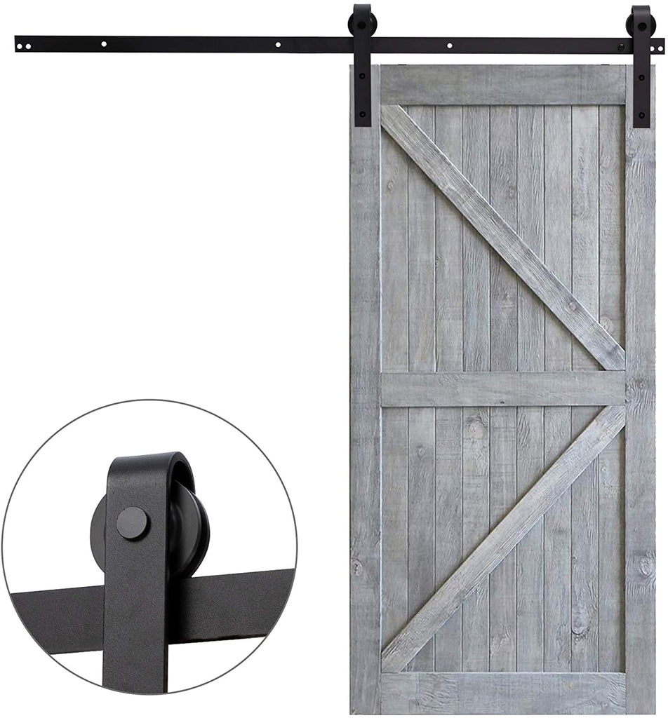 10 Ft Heavy-Duty Rail For Sliding Barn Door (Single Door 10FT Kit) - Kaiezen