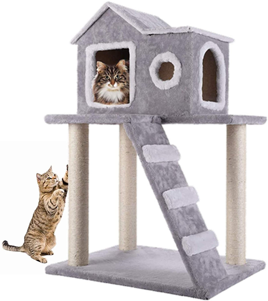 Cat Tree Condo Tower with Ladder and Scratching Posts