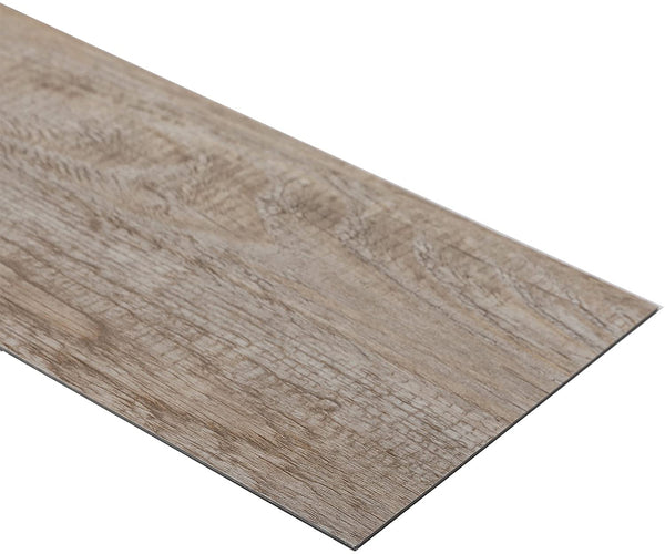 24 PCS 24 Square Feet, CO-Z Odorless Vinyl Floor Planks Adhesive (Ash - 24 sq ft/Pack)