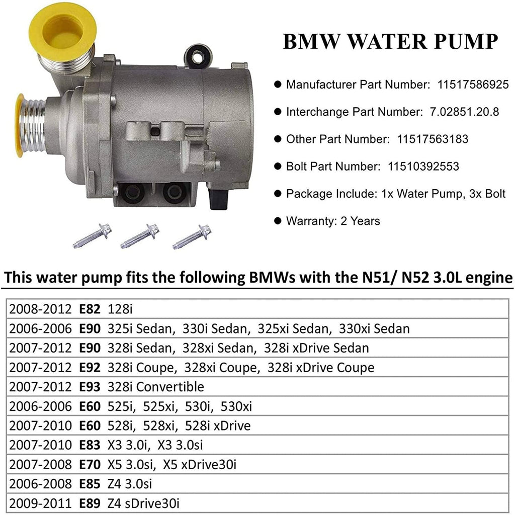 Electric Engine Water Pump with Bolts - Kaiezen