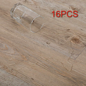 16 PCS 24 Square Feet, CO-Z Odorless Vinyl Floor Planks Adhesive (Ash - 24 sq ft/Pack)