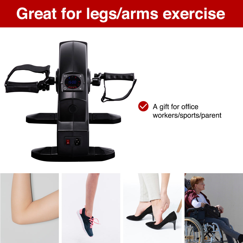 Mini Exercise Bike Pedal Exerciser LCD Screen Remote Control Arm/Leg Exercise - Kaiezen