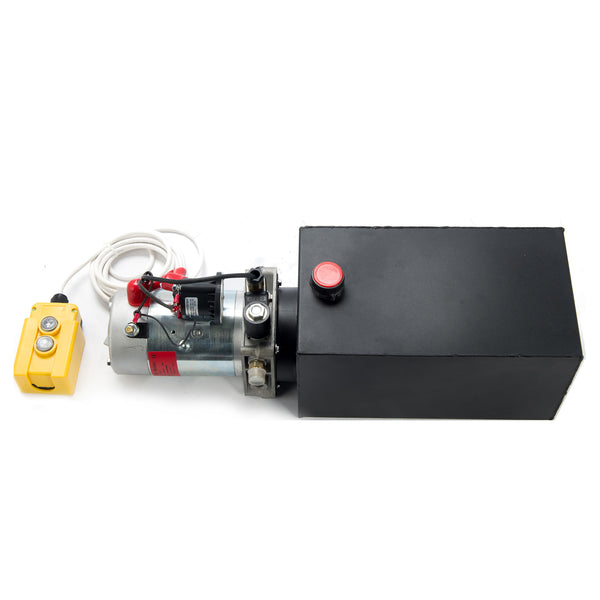 12V Single Acting Hydraulic Pump with 10 Quart Reservoir - Kaiezen