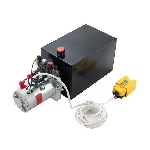12V Double Acting Hydraulic Pump with 15 Quart Reservoir - Kaiezen