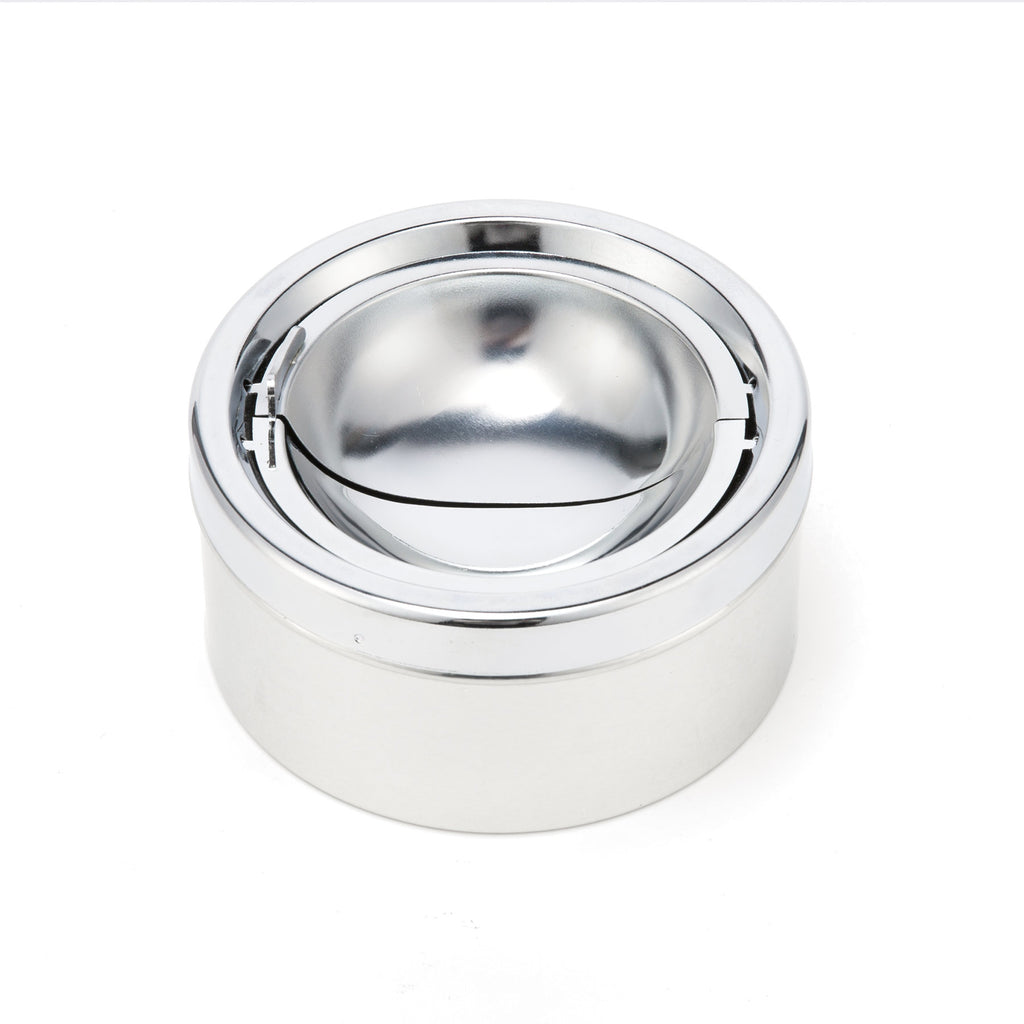 Domingo Petrucci Direct Outdoor Floor Standing Ashtray, 24 Inch Height Chrome Finish Tall Outside Patio Ashtrays for Cigarettes - Kaiezen