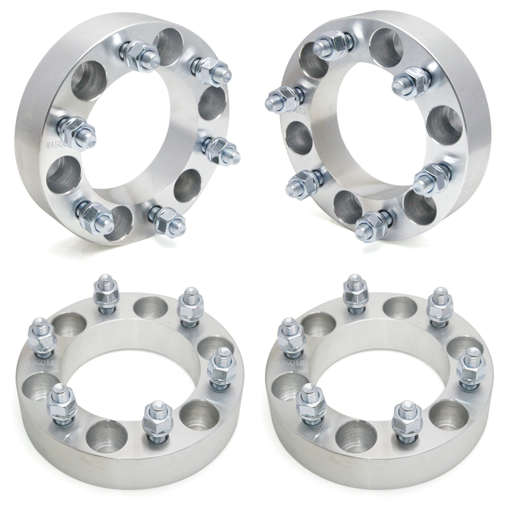"2pcs Wheel Spacers | 6 Lug 6x5.5 / 6x139.7 - 1.5"" Thickness - 12x1.5 STUDS - Kaiezen"