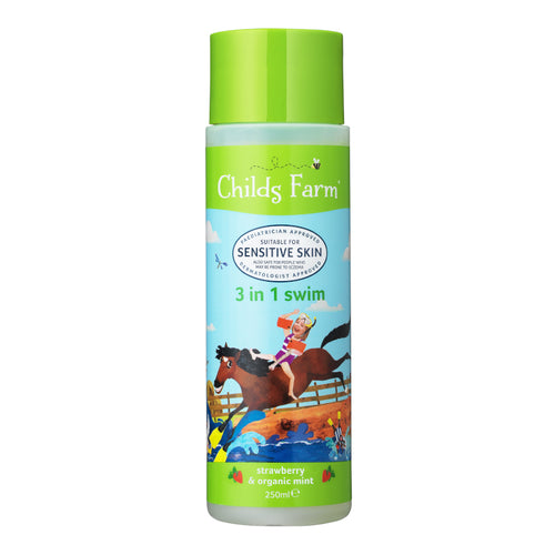 3 in 1 Swim - Childs Farm | Bear & Moo | Bear and Moo | Hamilton, New Zealand | natural haircare | skincare | moisturiser | shampoo | body wash | bubble bath | vegan | cloth nappies | environmentally friendly | save money | good for the environment | sustainable living | waste free | 3 in 1 Swim - Childs Farm