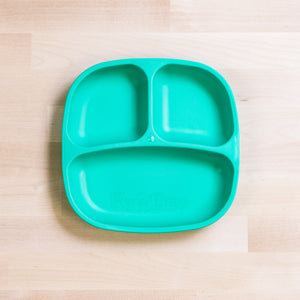 Re-Play Divided Plate | Bear & Moo | Bear and Moo | Hamilton, New Zealand | plate | feed baby | baby food | tableware | dinner | recycled plastic | reusable | cloth nappies | environmentally friendly | save money | good for the environment | sustainable living | waste free | Re-Play Divided Plate