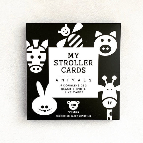 Stroller Cards | Bear & Moo | Bear and Moo | Hamilton, New Zealand | NZ Book | kids books | quiet book | play | black and white | cloth nappies | environmentally friendly | save money | good for the environment | sustainable living | waste free | Stroller Cards