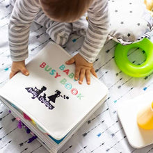 Baby busy book| busy book| baby sensory| baby learning| toddler sensory| toddler learning| Bear and Moo| Bear & Moo| Hamilton, New Zealand| eco-friendly business| small business| cloth nappies| baby playing with busy book|Baby busy book
