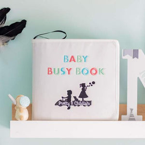 Baby busy book| busy book| baby sensory| baby learning| toddler sensory| toddler learning| Bear and Moo| Bear & Moo|  Hamilton, New Zealand| eco-friendly business| small business| cloth nappies|  Baby busy book