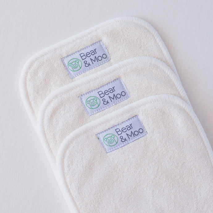 Bamboo Inserts | Bear & Moo | Bear and Moo | Hamilton, New Zealand | cloth nappy | reusable nappies | modern cloth nappies | environmentally friendly | save money | good for the environment | alternative to plastic | sustainable living | waste free | Bamboo Inserts