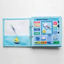 Pretty Childish Little Blue 5 page Busy Book | Bear & Moo | Bear and Moo | Hamilton, New Zealand | NZ Book | kids books | quiet book | play | cloth nappies | environmentally friendly | save money | good for the environment | sustainable living | waste free | Pretty Childish Little Blue 5 page Busy Book