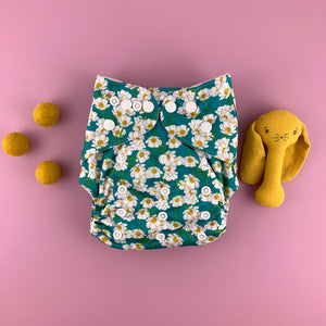 Buttercup Cloth Nappy | Bear & Moo | Bear and Moo | Hamilton, New Zealand | cloth nappy | reusable nappies | modern cloth nappies | solid colour | environmentally friendly | save money | good for the environment | alternative to disposables | sustainable living | waste free | Buttercup Cloth Nappy