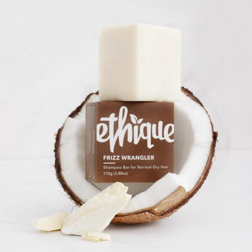 Ethique Frizz Wrangler Shampoo for Normal-Dry Hair | Bear & Moo | Bear and Moo | Hamilton, New Zealand | natural haircare | shampoo bar | cloth nappies | environmentally friendly | save money | good for the environment | sustainable living | waste free | Ethique Frizz Wrangler Shampoo for Normal-Dry Hair