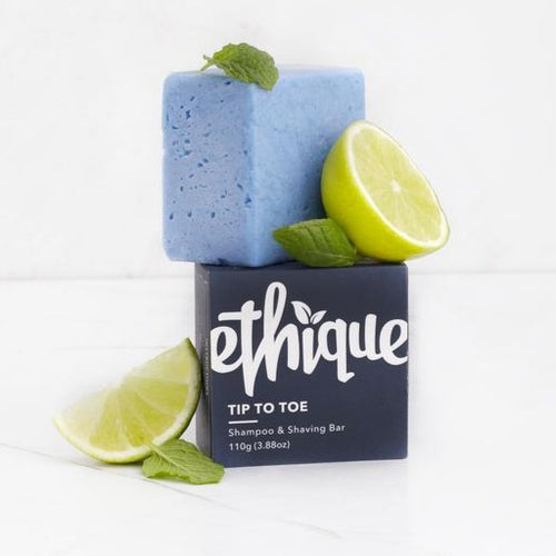 Ethique Tip-To-Toe Shampoo and Shaving Bar | Bear & Moo | Bear and Moo | Hamilton, New Zealand | shaving natural haircare | shampoo bar | cloth nappies | environmentally friendly | save money | good for the environment | sustainable living | waste free | Ethique Tip-To-Toe Shampoo and Shaving Bar
