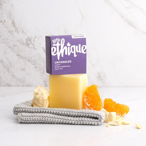 Ethique Untangled Conditioner Bar | Bear & Moo | Bear and Moo | Hamilton, New Zealand | natural skincare | cleanser bar | baby bath | cloth nappies | environmentally friendly | save money | good for the environment | sustainable living | waste free | Ethique Untangled Conditioner Bar